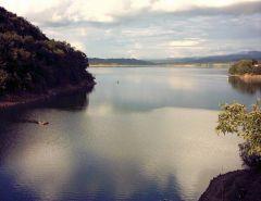 Lacul Surduc la apus de soare