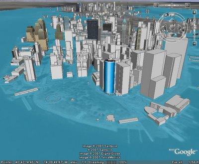 Manhattan dupa cresterea nivelului marii