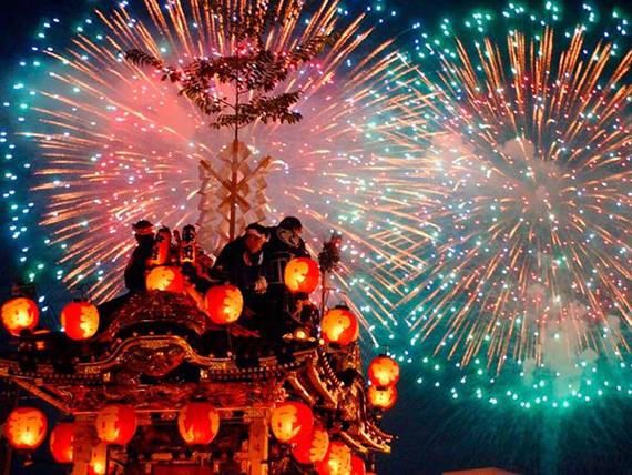 Artificii de Anul Nou in Japonia