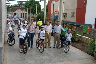 Mars cu bicicletele cu ocazia Car Free Day