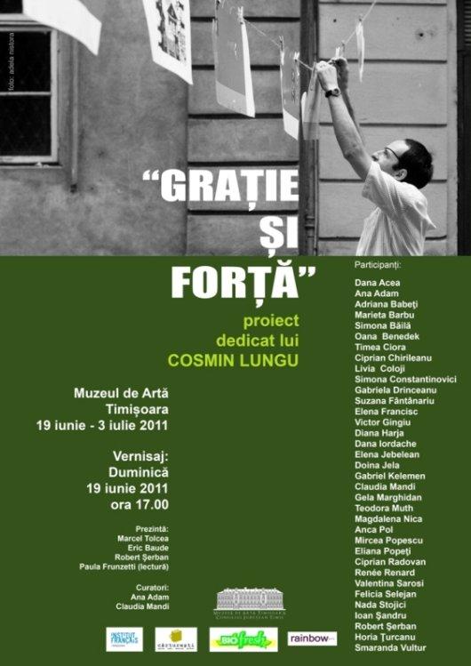 Gratie si forta, expozitie dedicata lui Cosmin Lungu