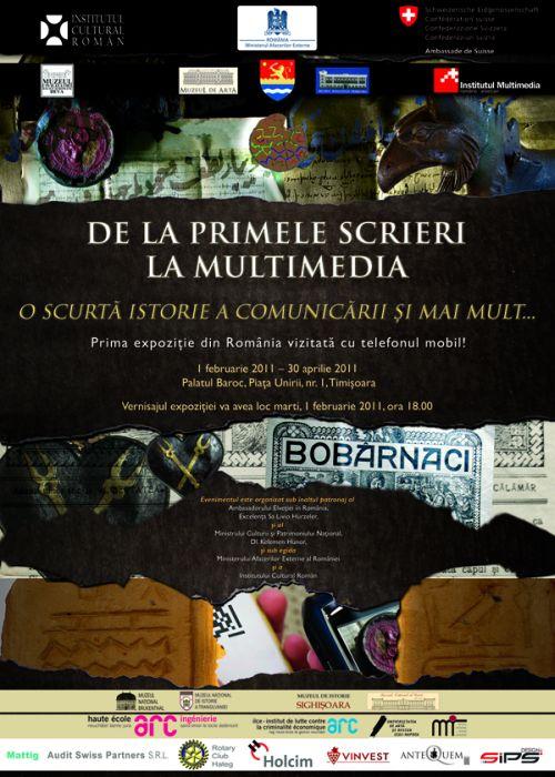 expozitia De la primele scrieri la multimedia la Muzeul de arta