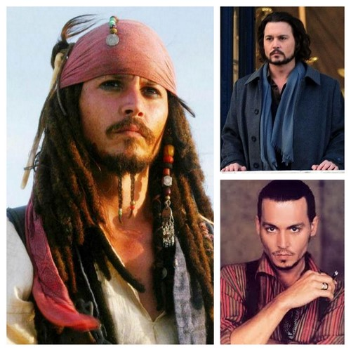 Johnny Depp in Piratii din Caraibe in Turistul si in Chocolat