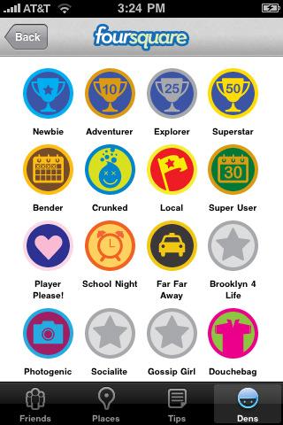 badge-uri Foursquare