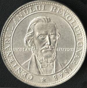 Nicolae Balcescu pe moneda de 100 lei