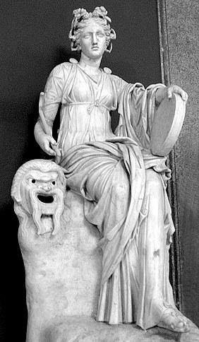 Statuia Thaliei muza comediei