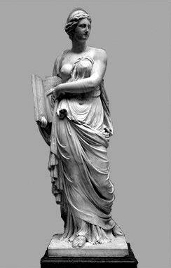 Statuia lui Calliope muza poeziei epice