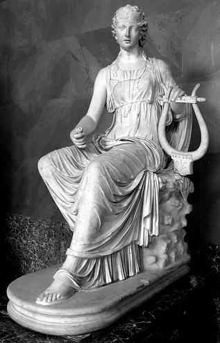 Statuia lui Terpsichore muza dansului