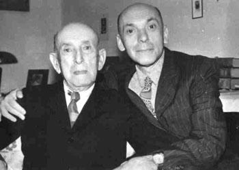 Nicolae Steinhardt impreuna cu tatal sau