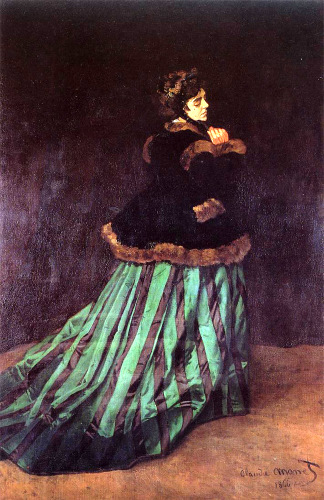 Camille Doncieux - Femeia in rochie verde, Claude Monet