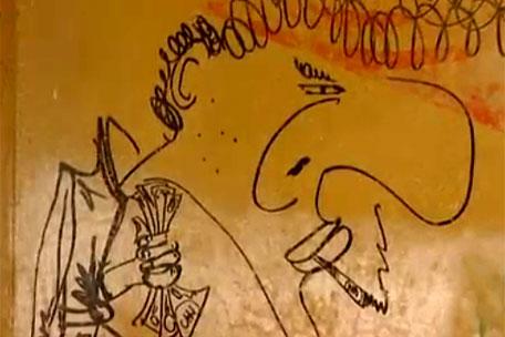 Graffiti pe peretii unui apartament din Londra