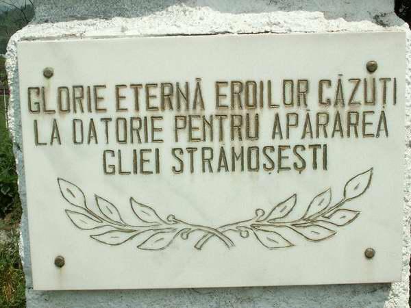 Ziua Eroilor - placa comemorativa