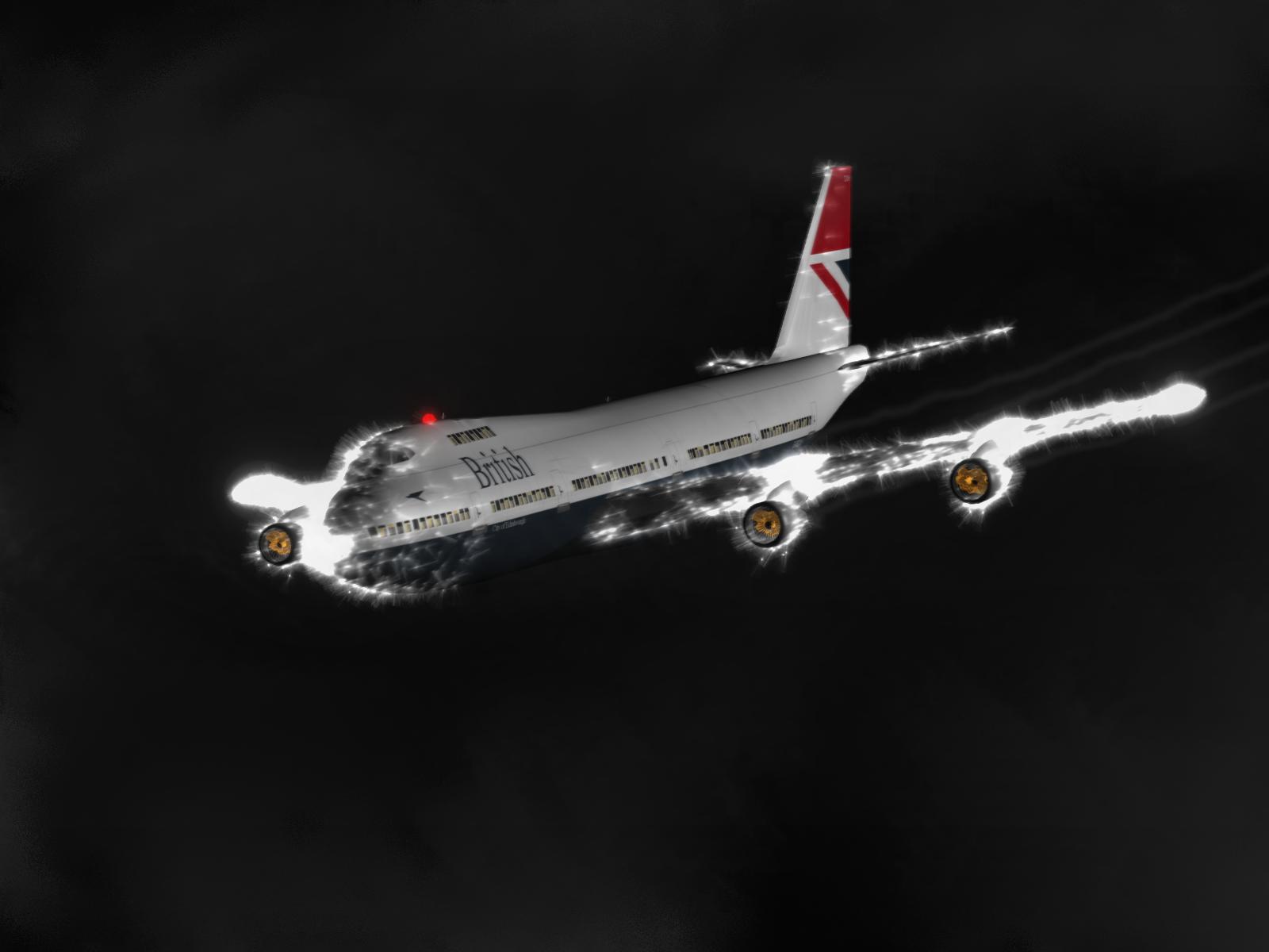 Avion invaluit de focul Sfantului Elmo