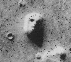 Chipul uman de pe Marte din regiunea Cydonia