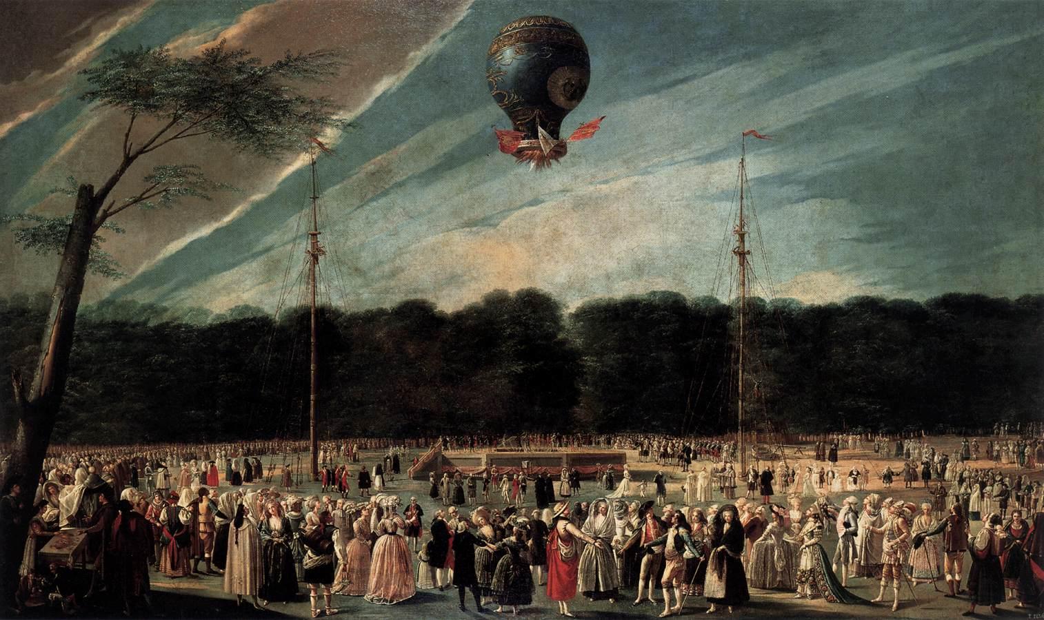 "Fratii Montgolfier - ""Balonul cu aer cald"