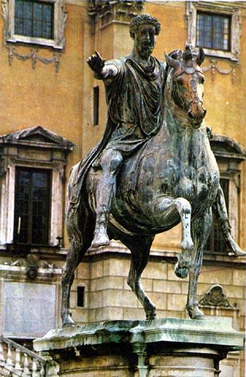 statuia lui Marcus Aurelius din Roma