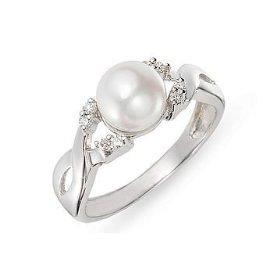 Inel de logodna cu perla