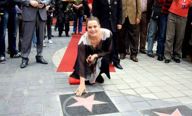 Maia Morgensten si Steaua de pe Walk of Fame
