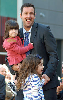 Adam Sandler si cei doi copii ai sai