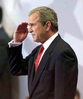 Salutul clasic al lui George Bush