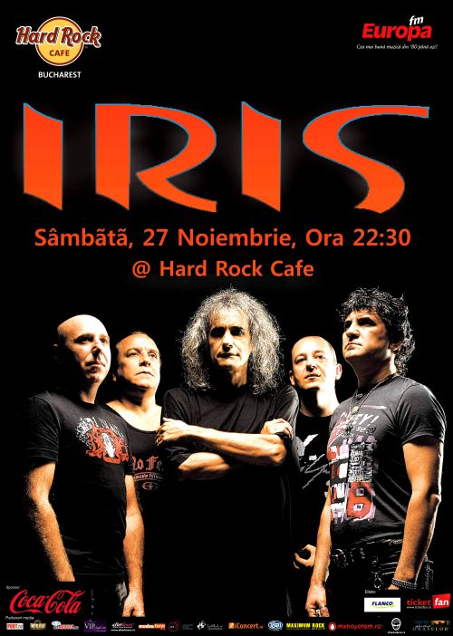 Concert Iris la Hard Rock Cafe
