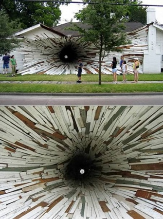 Tunel prin casa in Houston, SUA