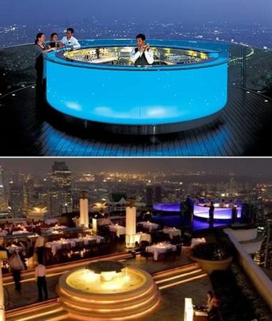Bar pe acoperis in Thailanda