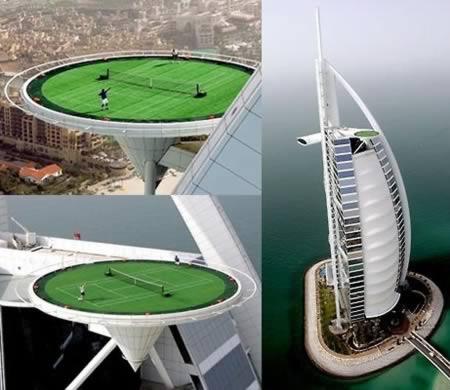 Terenul de tenis din Dubai