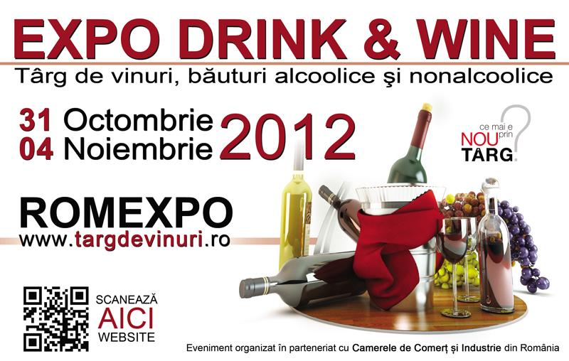 Expo Drink & Wine 2012 – Targ de vinuri, bauturi alcoolice si non-alcoolice