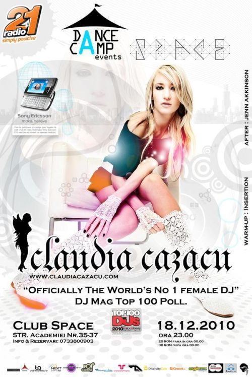 Claudia Cazacu in Club Space