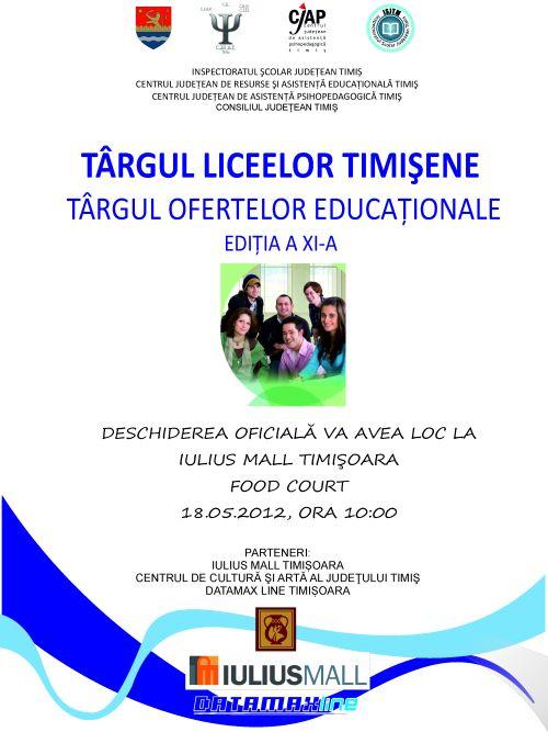 Targul Liceelor Timisene – Targ al ofertelor educationale