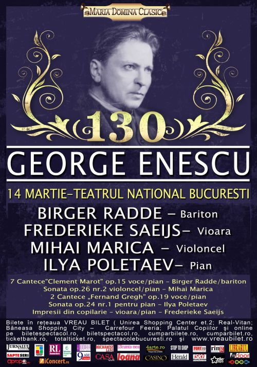 Omagiu George Enescu – 130 de ani de la nastere