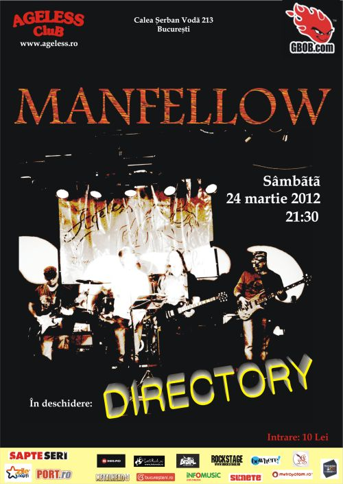 Manfellow si Directory concerteaza in Ageless Club