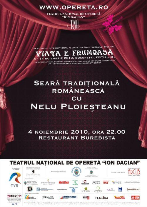 seara traditionala cu Nelu Ploiesteanu
