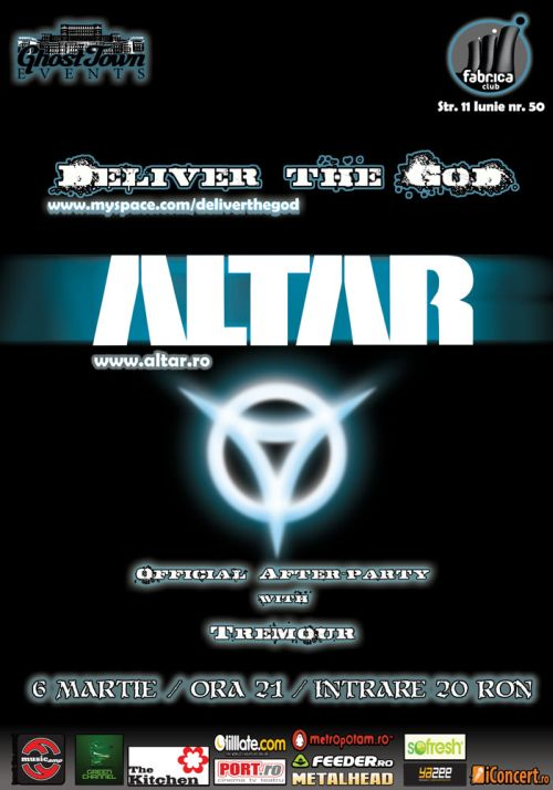Concert Altar si Deliver The God in Club Fabrica