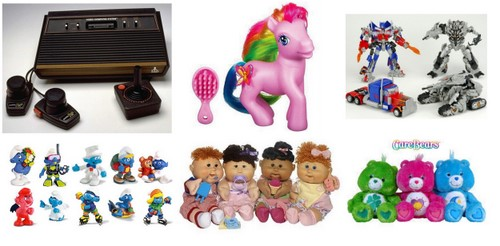atari my little poney transformers strumfii cabbage kids care bears