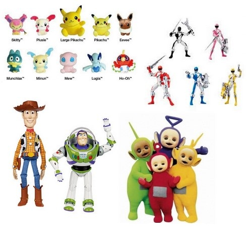 pokemon power rangers toy story teletubbies