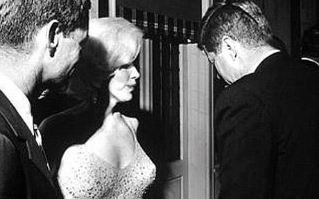 John F. Kennedy si Marilyn Monroe