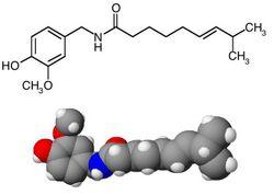 formula chimica a capsaicinei