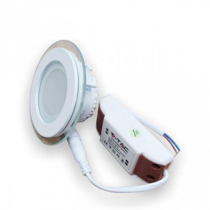 Minipanou LED sticla 6W Alb Cald Rotund