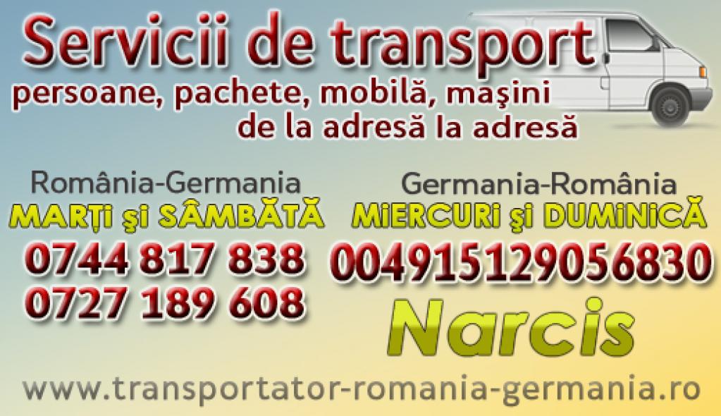 Servicii de transport persoane Romania-Germania