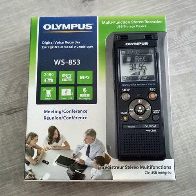 Nou cu husa Reportofon profesional stereo Olympus WS-853 black