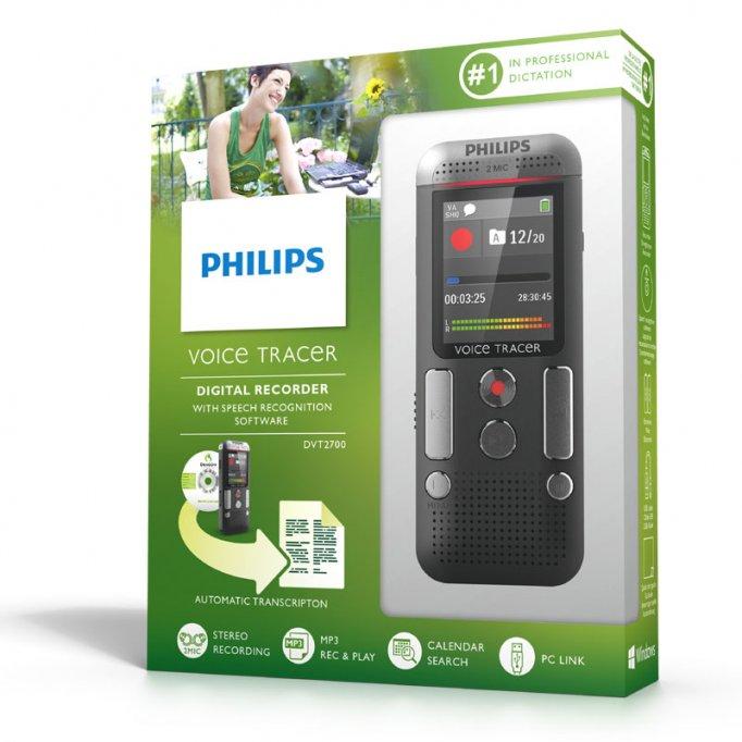 Reportofon profesional Philips DVT 2710 digital stereo la cutie cu 12 luni garantie