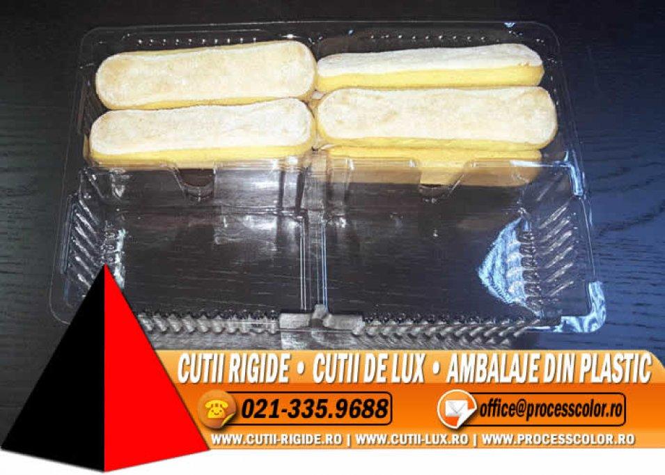 Caserola cu 2 compartimente pentru piscoturi - Cutii Rigide