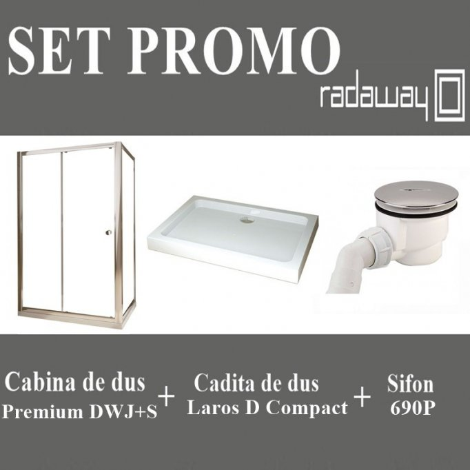 Set Promo Cabina dus Premium DWJ+S 100x80 Radaway