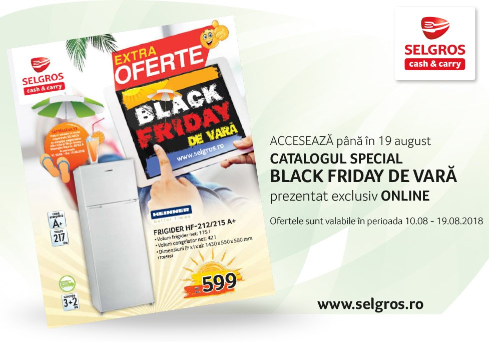 Black Friday la Selgros
