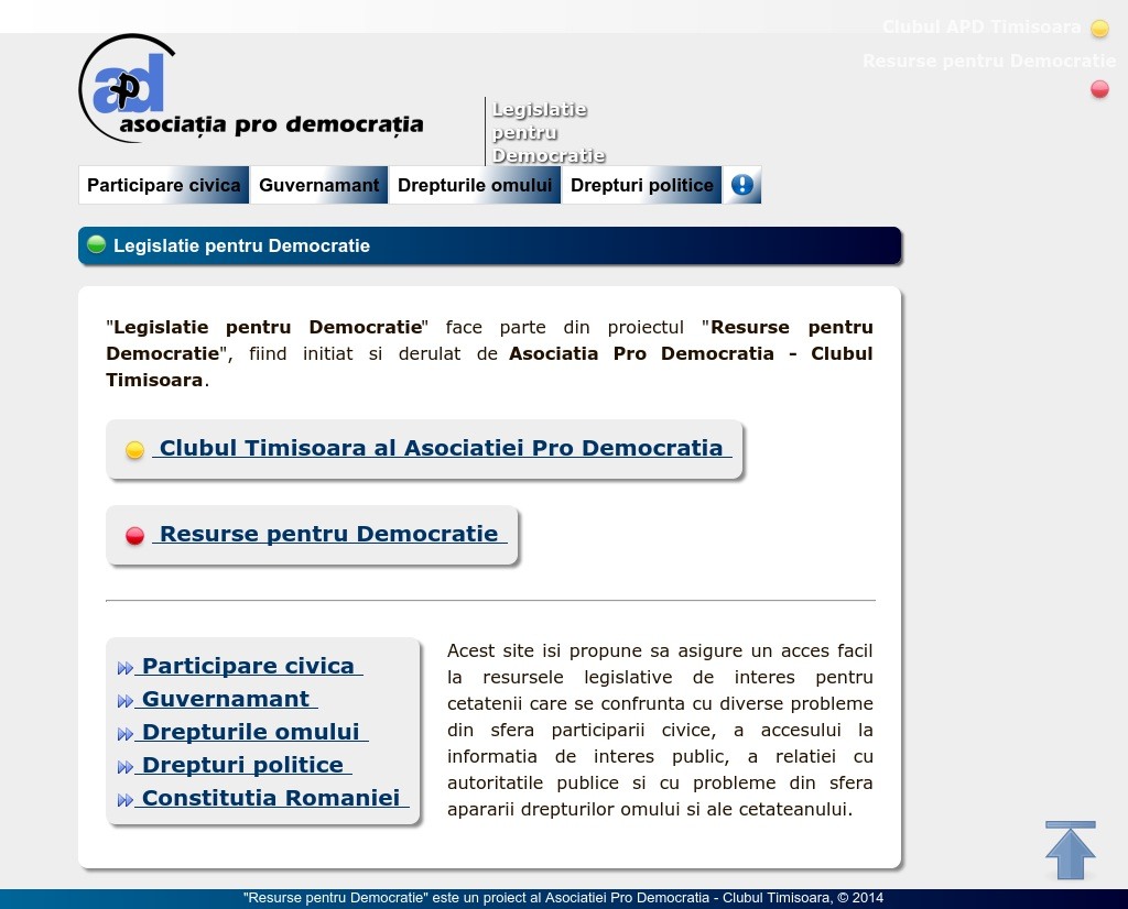 Legislatie pentru Democratie