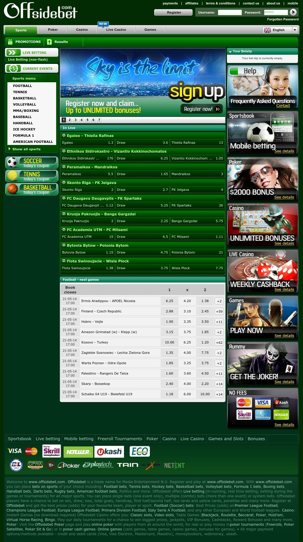 Offsidebet .com - Pariuri sportive online
