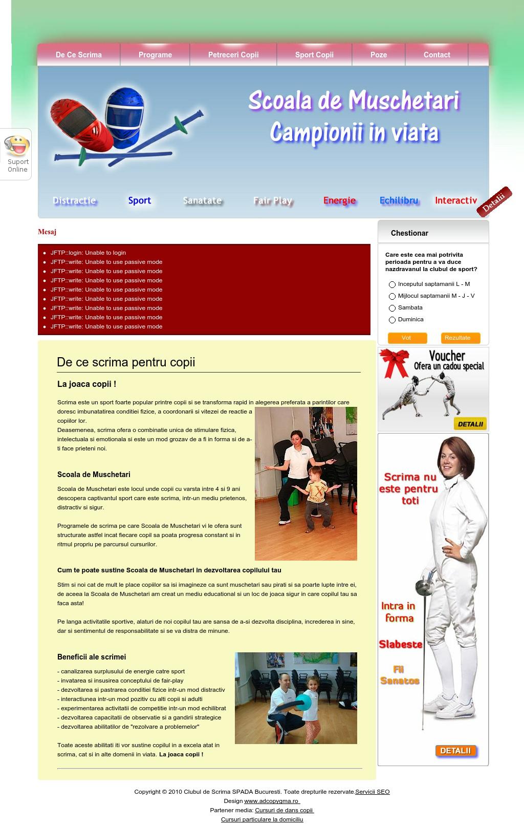 Sport pentru copii in Bucuresti