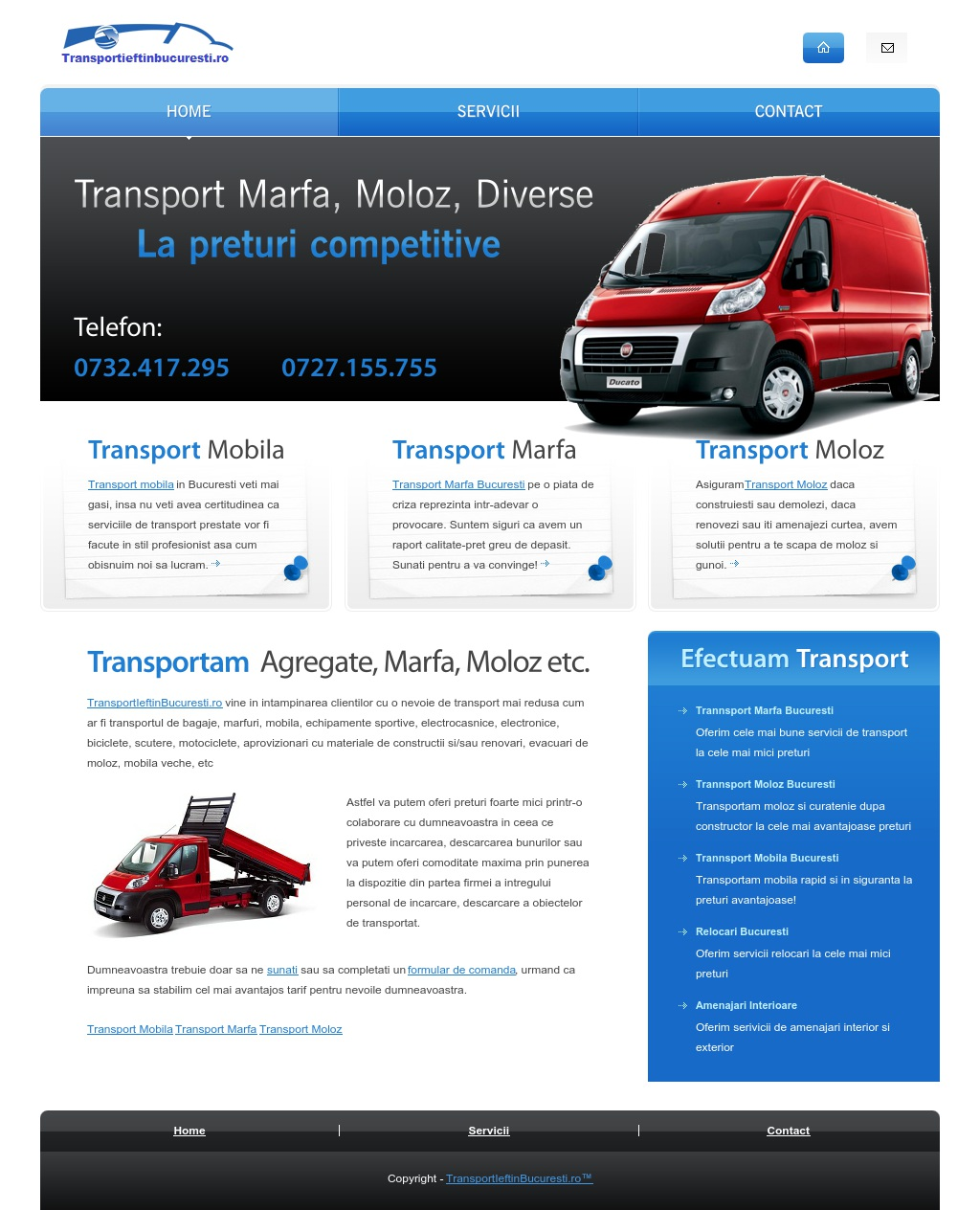Transport ieftin Bucuresti